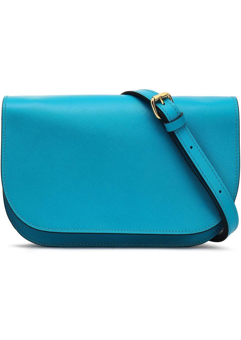 Marni Woman Textured-leather Shoulder Bag Light Blue