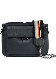 Marni Woman Textured-leather Shoulder Bag Storm Blue