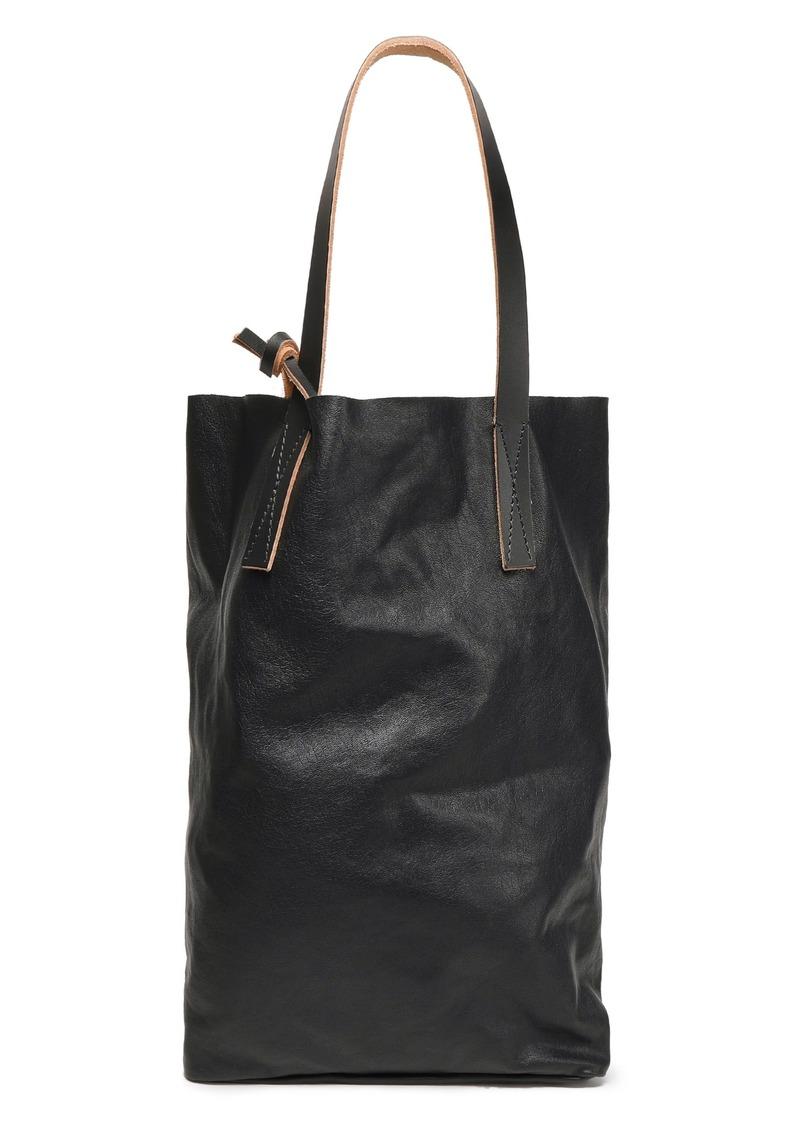 Marni Woman Textured-leather Tote Black