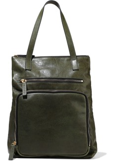 Marni Woman Textured-leather Tote Forest Green