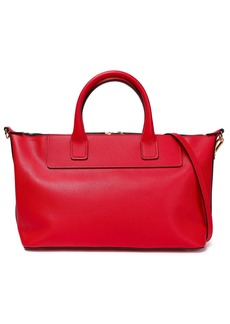 Marni Woman Textured-leather Tote Red