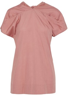 Marni Woman Tie-back Gathered Silk Blouse Antique Rose