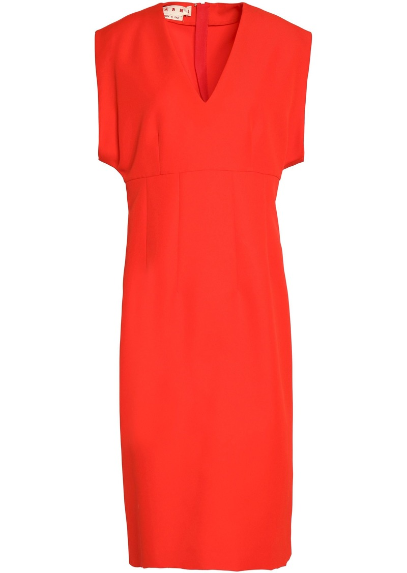 Marni Woman Twill Dress Tomato Red