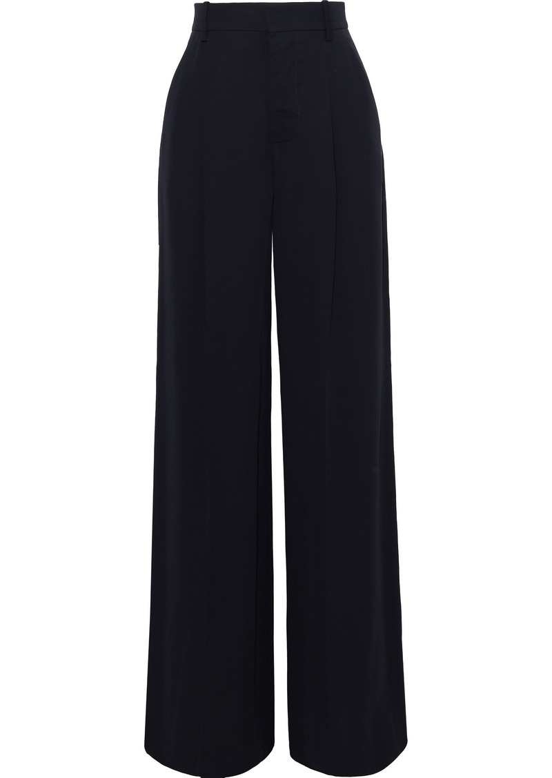 Marni Woman Twill Wide-leg Pants Navy