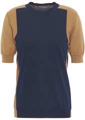 Marni Woman Two-tone Cotton Top Navy