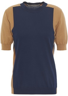 Marni Woman Two-tone Cotton Top Navy