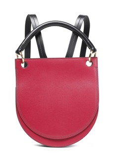 Marni Woman Two-tone Leather Backpack Fuchsia