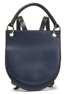 Marni Woman Two-tone Leather Backpack Navy