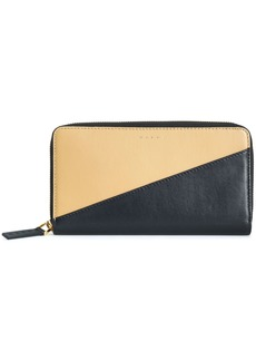Marni Woman Two-tone Leather Continental Wallet Black