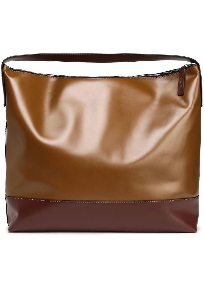 Marni Woman Two-tone Leather Tote Light Brown