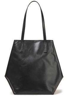 Marni Woman Two-tone Leather Tote Black