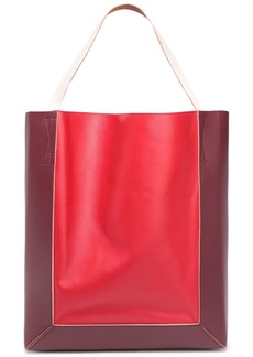 Marni Woman Two-tone Leather Tote Red