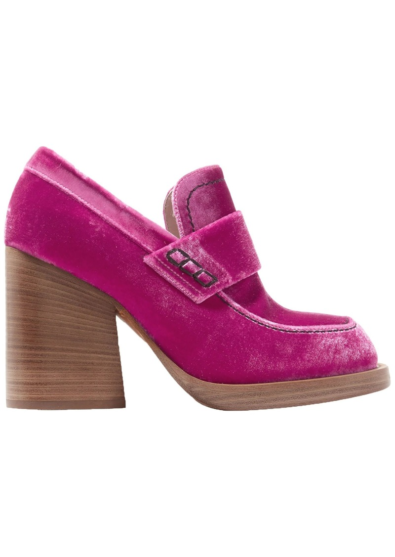 Marni Woman Velvet Pumps Magenta