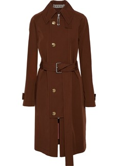 Marni Woman Wool And Cotton-blend Twill Trench Coat Chocolate