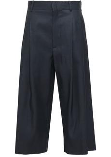 Marni Woman Wool And Silk-blend Culottes Midnight Blue