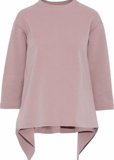 Marni Woman Wool-blend Ponte Top Lilac