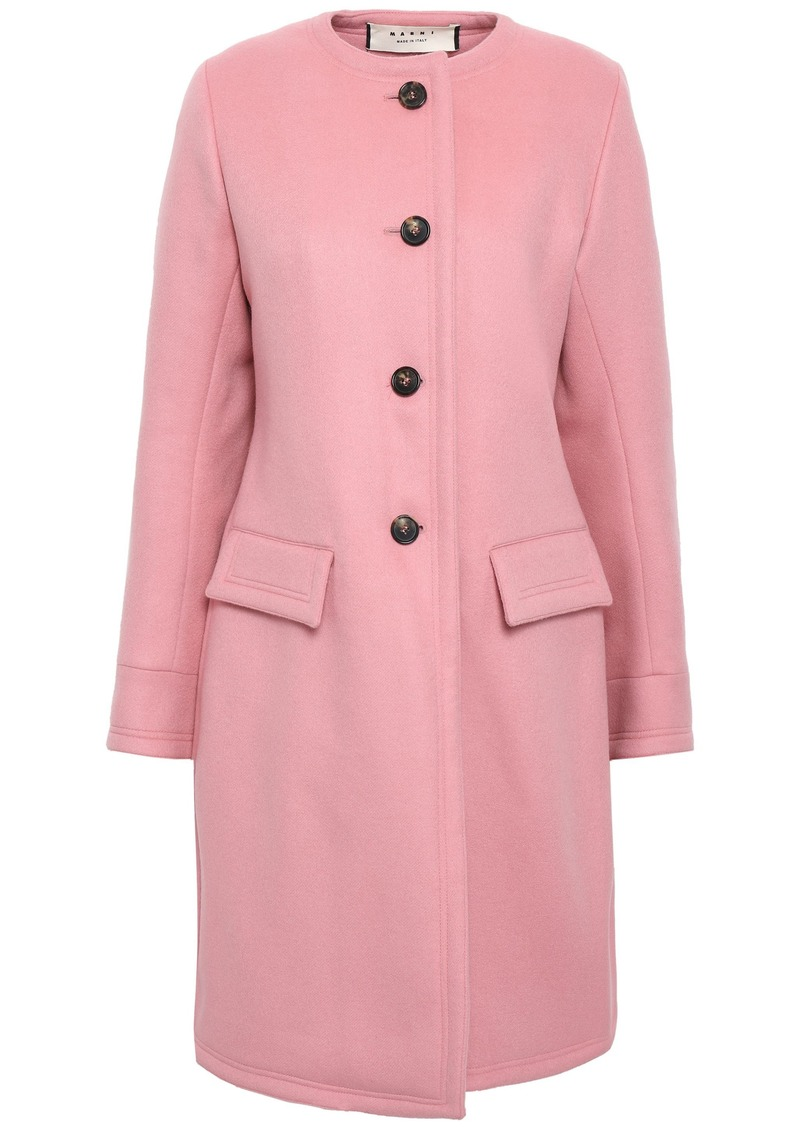 Marni Woman Wool Cashmere And Angora-blend Coat Baby Pink