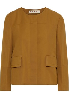 Marni Woman Wool-twill Jacket Camel