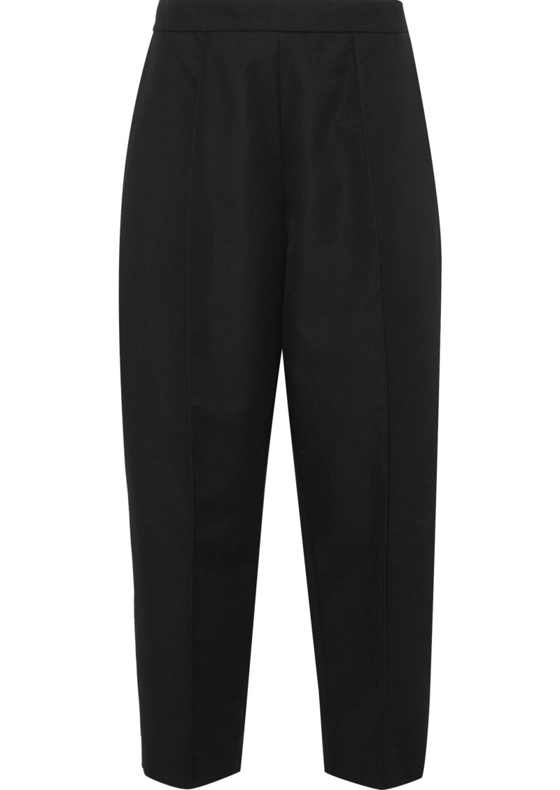 Marni Woman Wool-twill Straight-leg Pants Black