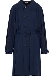 Marni Woman Wool-twill Trench Coat Navy