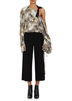 Marni Women's Abstract-Print Silk Crop Blouse