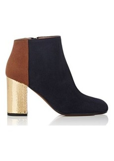 Marni Women's Colorblocked Suede Ankle Boots