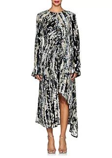 Marni Women's Devoré Velvet High-Low Dress