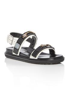 Marni Women's Fusbett Embellished Leather Sandals