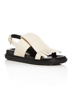 Marni Women's Fussbett Kiltie Fringe Slingback Sandals