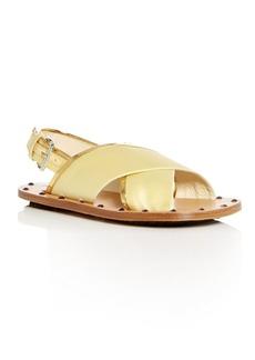 Marni Women's Samsy Satin Crisscross Slingback Sandals