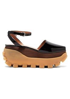 Marni Wooden flatform sandals