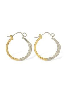 Marni Melt Two Tone Small Hoop Earrings
