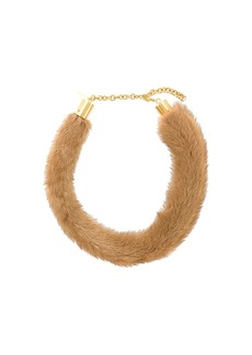 Marni mink fur necklace