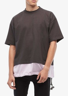 Marni Mixed Media Heavy Cotton Toggle T-Shirt