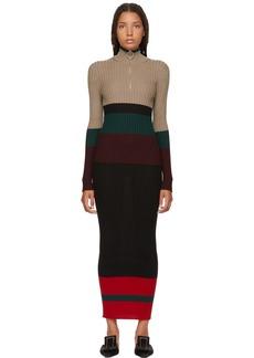 Marni Multicolor Striped Long Dress