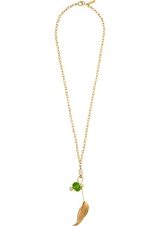 Marni nature leaf necklace