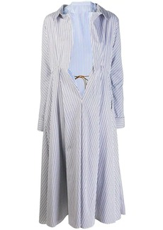 Marni Nougat Illusion shirt coat