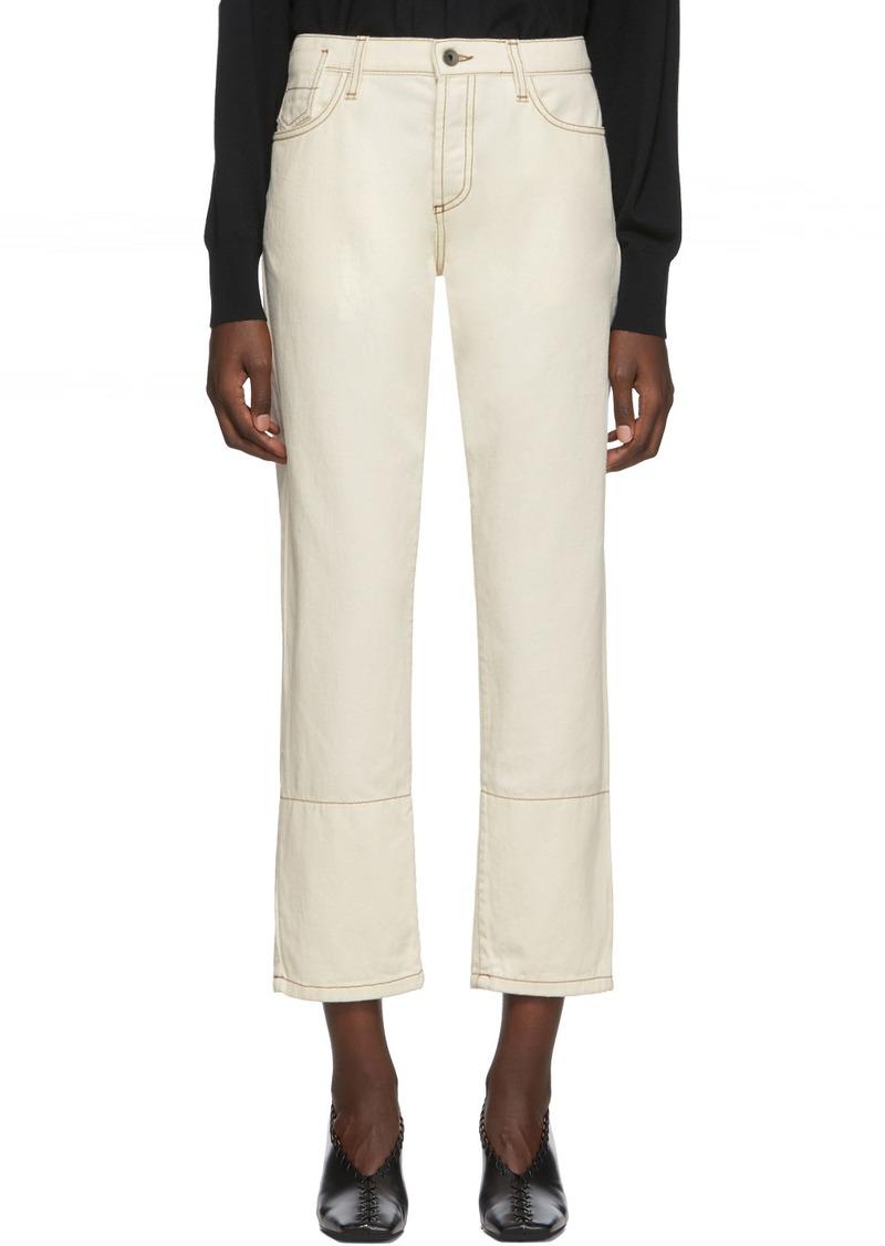 Marni Off-White Denim Crop Jeans