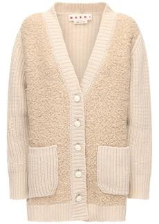 Marni Oversize Cashmere Blend Knit Cardigan