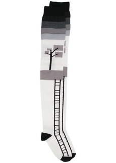 Marni over the knee landscape socks
