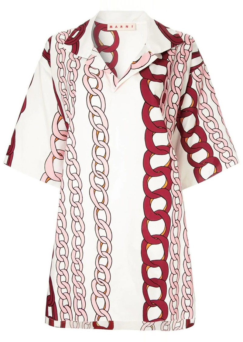 Marni oversized chain print T-shirt