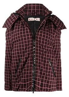 Marni oversized checkered puffer jacket