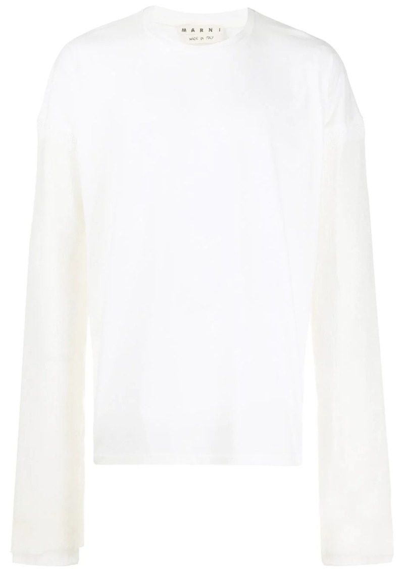 Marni oversized contrast sleeve sweater