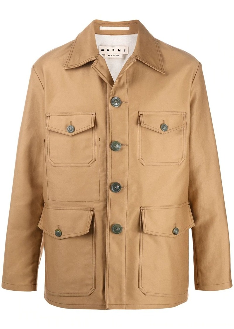 Marni boxy-fit military jacket