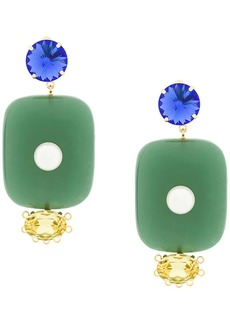 Marni oversized pendant earrings