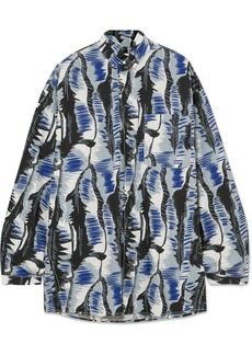 Marni Oversized Printed Cotton-poplin Shirt
