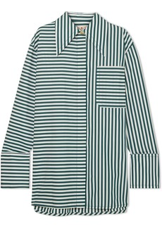 Marni Oversized Striped Cotton-poplin Shirt