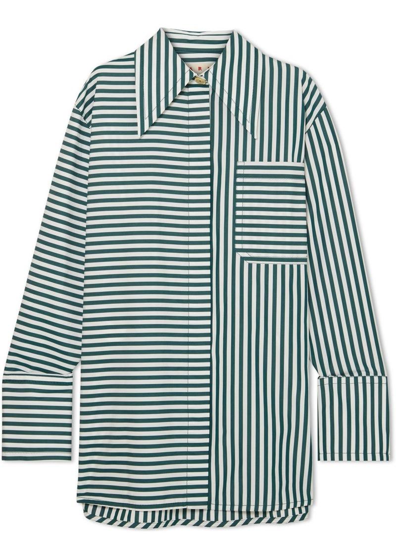 9b239b983b Marni Oversized Striped Cotton-poplin Shirt