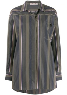 Marni oversized striped poplin shirt