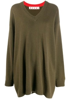 Marni oversized V-neck jumper